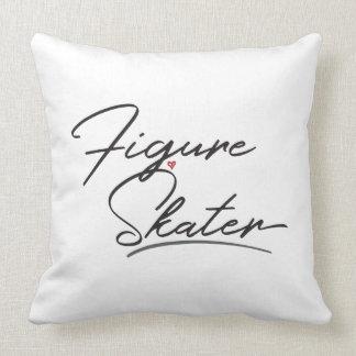 Figure Skater Throw Pillow