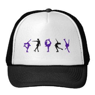 Figure Skaters - Purple Black Mesh Hats