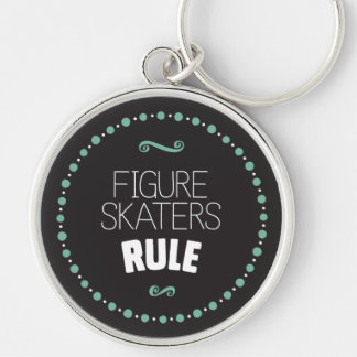 Figure Skaters Rule - Black Keychain