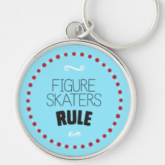 Figure Skaters Rule - Blue Keychain
