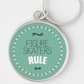 Figure Skaters Rule - Green Keychain