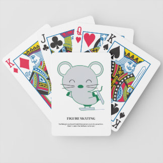 Figure skating bicycle playing cards