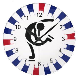 Figure Skating Design Wall Clock