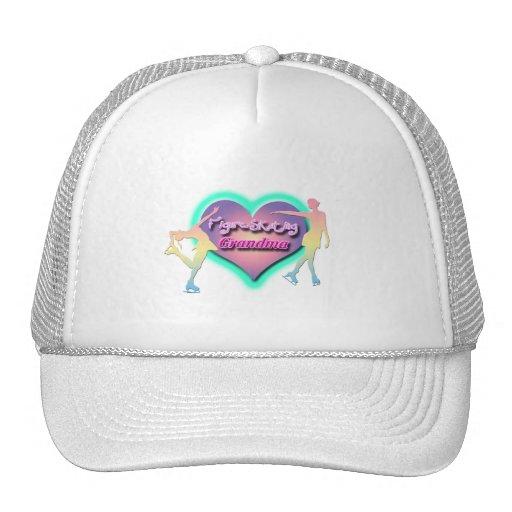 figure skating grandma pastels hat