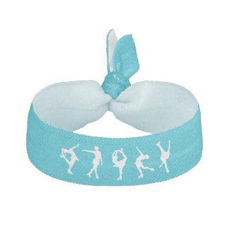 Figure Skating Hair Tie, Pony tail holder, Blue Hair Tie