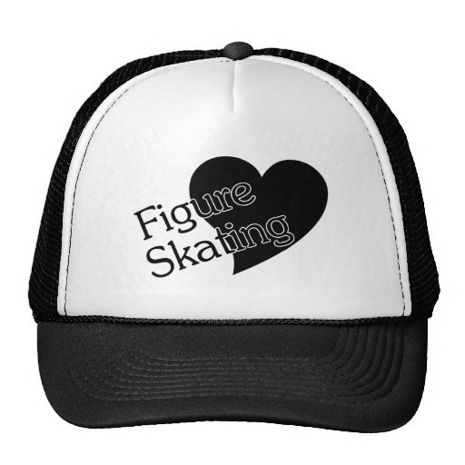 Figure Skating Heart/Love Trucker Hat