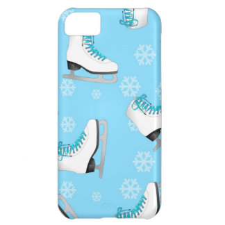 Figure Skating - Ice Skates Blue with Snowflakes iPhone 5C Cover