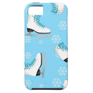 Figure Skating - Ice Skates Blue with Snowflakes iPhone 5 Covers