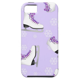 Figure Skating - Ice Skates Purple with Snowflakes iPhone 5 Cases