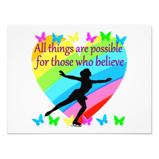 FIGURE SKATING INSPIRATIONAL QUOTE DESIGN PHOTOGRAPHIC PRINT