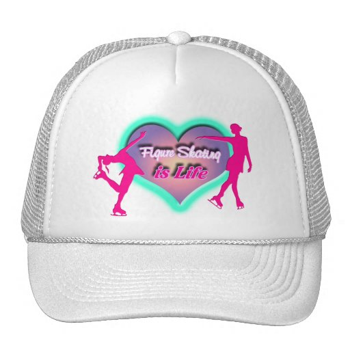 Figure Skating is Life - Heart & Two Skaters Trucker Hat