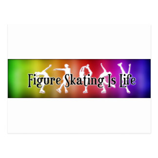Figure Skating is Life- Rainbow Postcard