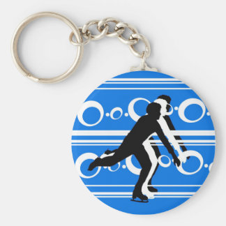 Figure Skating Keychain - Blue