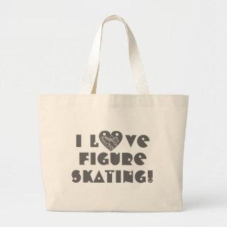 Figure_Skating Large Tote Bag