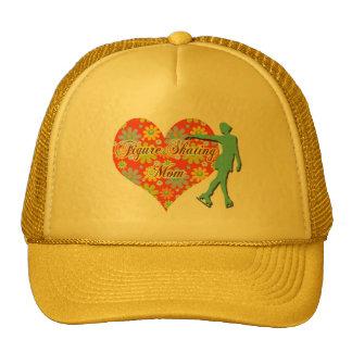 Figure Skating Mom - Flowers/Heart/Skater Trucker Hat