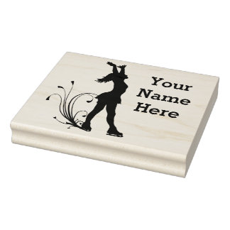 Figure Skating Personalized Rubber Stamp