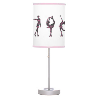 Figure Skating Pink Pattern Lamp