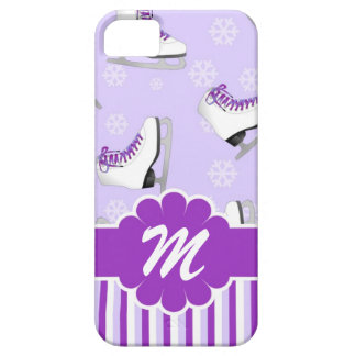 Figure Skating Purple and White Custom Monogram iPhone 5 Case