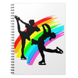 FIGURE SKATING QUEEN SPIRAL NOTEBOOK