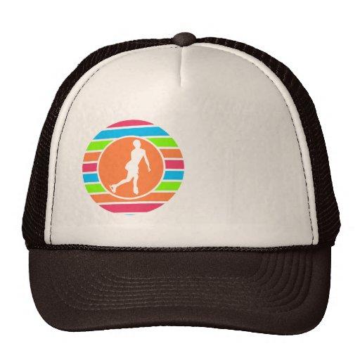 Figure Skating; Retro Neon Rainbow Trucker Hats