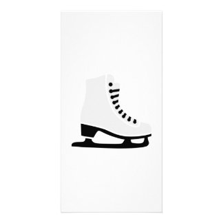 Figure skating skate photo card