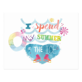 Figure Skating Summer Gifts Postcard