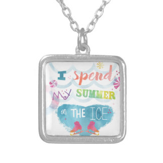 Figure Skating Summer Gifts Silver Plated Necklace