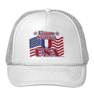 Figure Skating USA Trucker Hats