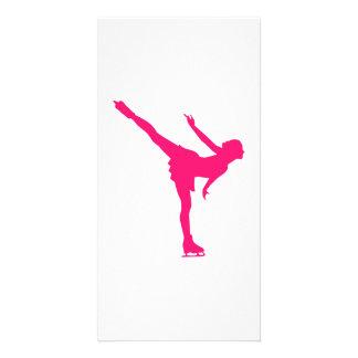 Figure skating woman photo greeting card
