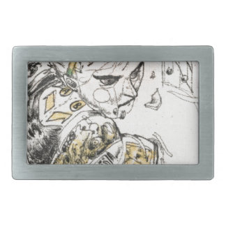 Figure Toy Rectangular Belt Buckle