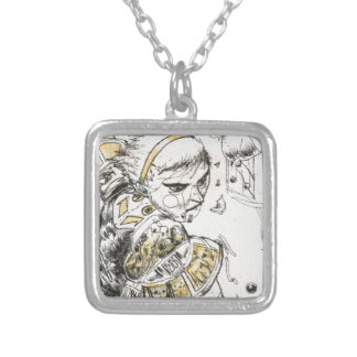 Figure Toy Silver Plated Necklace