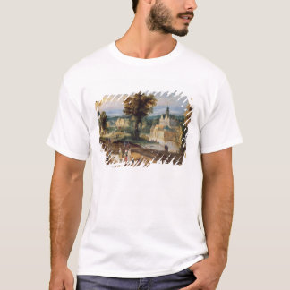 Figures in a landscape with village and castle bey T-Shirt