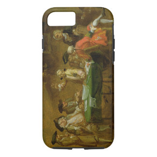 Figures in a Tavern or Coffee House, 1720s (oil on iPhone 7 Case
