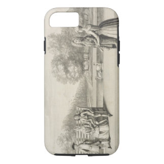 Figures on the bank of the Long Water, Hampton Cou iPhone 7 Case