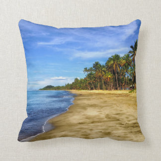 Fiji Beach Blue Sky Decorative Throw Pillow