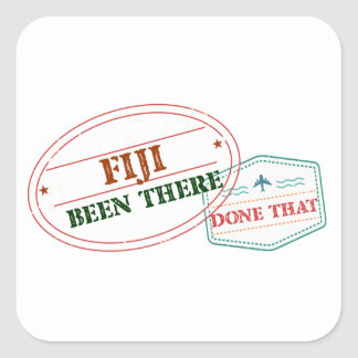 Fiji Been There Done That Square Sticker