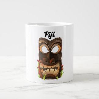 Fiji carved mask large coffee mug