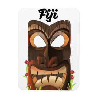 Fiji carved mask magnet