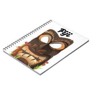 Fiji carved mask notebook