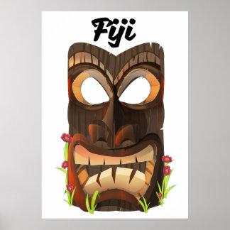 Fiji carved mask poster