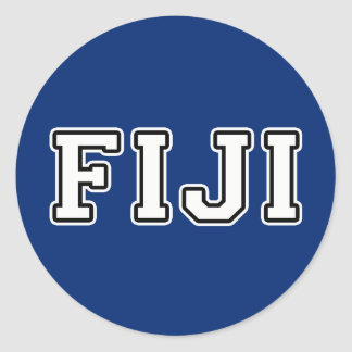Fiji Classic Round Sticker