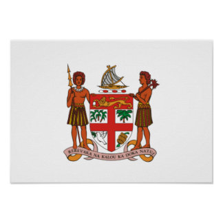 Fiji Coat of Arms Poster