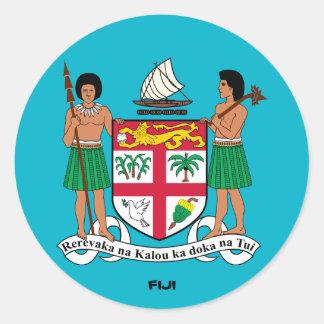 Fiji Crest Round Sticker