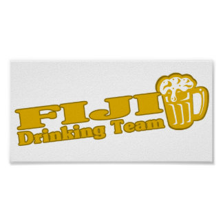 Fiji Drinking Team Poster