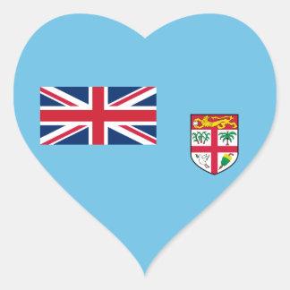 Fiji – Fijian National Flag Heart Sticker