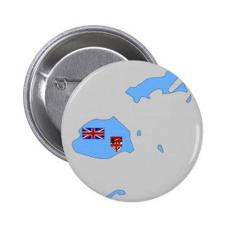 Fiji flag map 2 inch round button