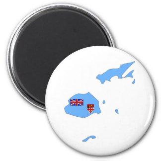 Fiji Flag Map full size Magnet