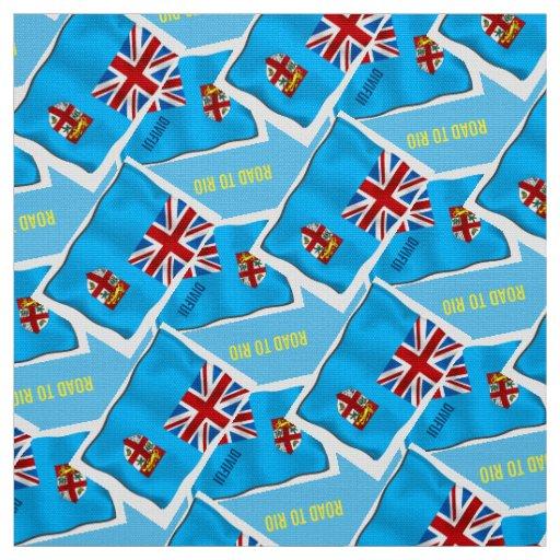 FIJI FLAG MATERIAL FABRIC