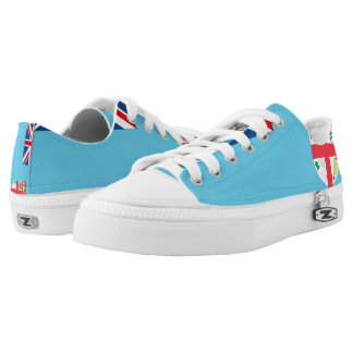 Fiji Flag --.png Low-Top Sneakers