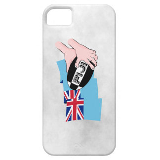 Fiji Flag Rugby Ball Pass Cartoon Hands Case For The iPhone 5